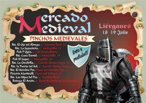 CARTEL MDO MEDIEVAL LIÉRGANES 2015 PINCHOS MEDIEVALES